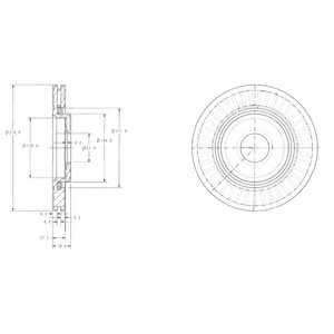 Тормозной диск DELPHI BG3620 - изображение