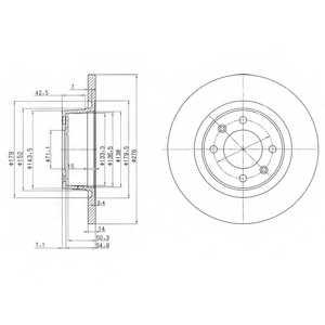 Тормозной диск DELPHI BG3621 - изображение