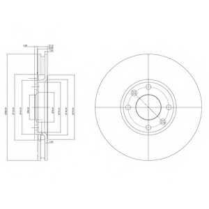 Тормозной диск DELPHI BG3622 - изображение