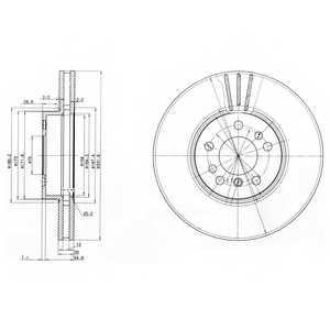 Тормозной диск DELPHI BG3628 - изображение