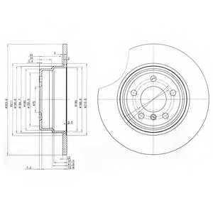 Тормозной диск DELPHI BG3629 - изображение