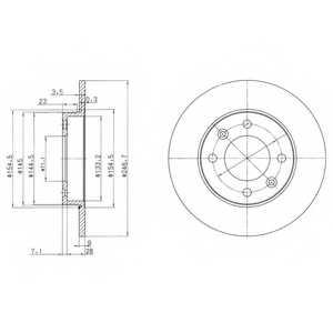 Тормозной диск DELPHI BG3653 - изображение