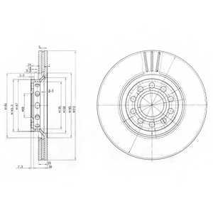 Тормозной диск DELPHI BG3657 - изображение