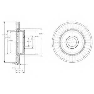 Тормозной диск DELPHI BG3659 - изображение