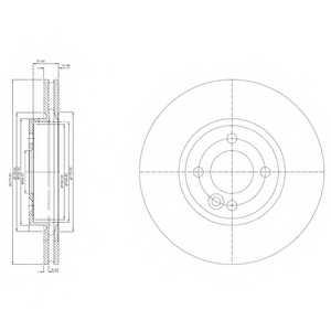 Тормозной диск DELPHI BG3661 - изображение
