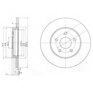 Тормозной диск DELPHI BG3663 - изображение
