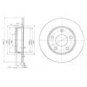 Тормозной диск DELPHI BG3671 - изображение