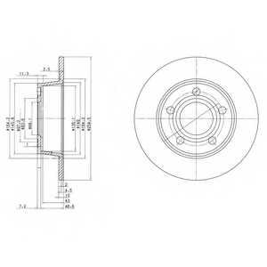 Тормозной диск DELPHI BG3672 - изображение