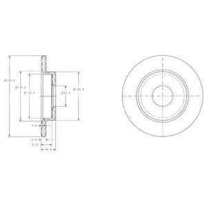 Тормозной диск DELPHI BG3673 - изображение