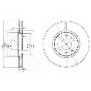 Тормозной диск DELPHI BG3675 - изображение