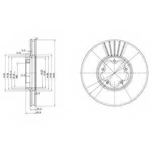Тормозной диск DELPHI BG3676 - изображение