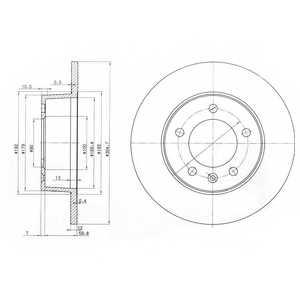 Тормозной диск DELPHI BG3681 - изображение