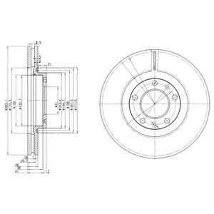 Тормозной диск DELPHI BG3682 - изображение