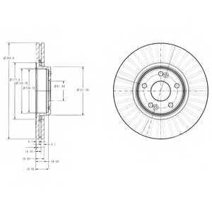 Тормозной диск DELPHI BG3688 - изображение