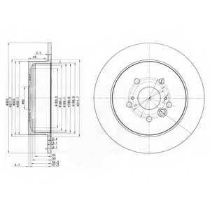 Тормозной диск DELPHI BG3691 - изображение