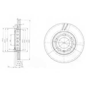 Тормозной диск DELPHI BG3695 - изображение