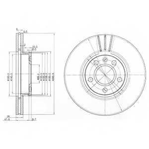 Тормозной диск DELPHI BG3696 - изображение