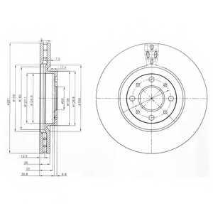 Тормозной диск DELPHI BG3699 - изображение