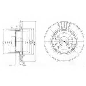 Тормозной диск DELPHI BG3702 - изображение