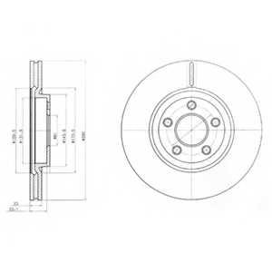 Тормозной диск DELPHI BG3704 - изображение
