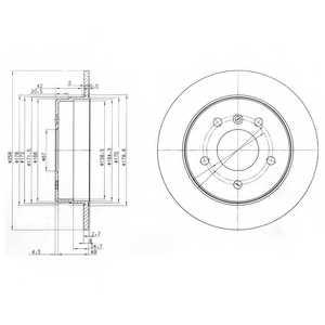 Тормозной диск DELPHI BG3710 - изображение