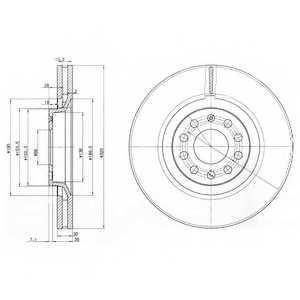Тормозной диск DELPHI BG3714 - изображение