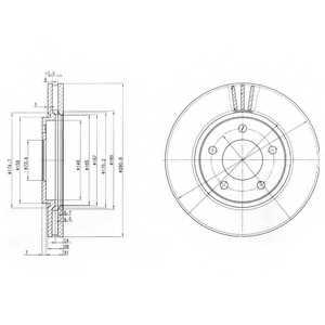Тормозной диск DELPHI BG3715 - изображение