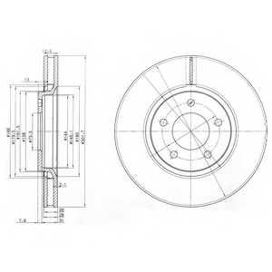 Тормозной диск DELPHI BG3716 - изображение