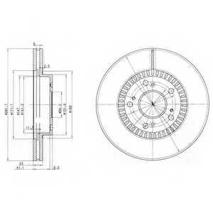 Тормозной диск DELPHI BG3720 - изображение