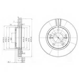 Тормозной диск DELPHI BG3721 - изображение