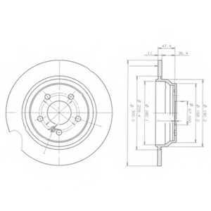 Тормозной диск DELPHI BG3725 - изображение