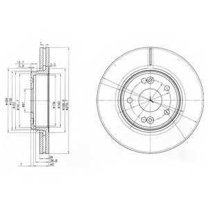 Тормозной диск DELPHI BG3733 - изображение