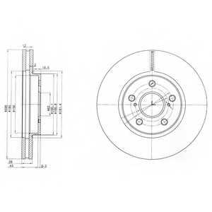 Тормозной диск DELPHI BG3735 - изображение