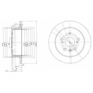 Тормозной диск DELPHI BG3736 - изображение