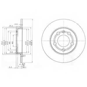 Тормозной диск DELPHI BG3738 - изображение