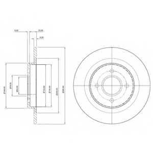 Тормозной диск DELPHI BG3743 - изображение