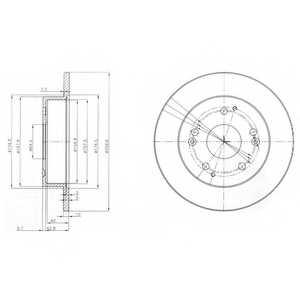 Тормозной диск DELPHI BG3746 - изображение