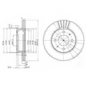 Тормозной диск DELPHI BG3749 - изображение