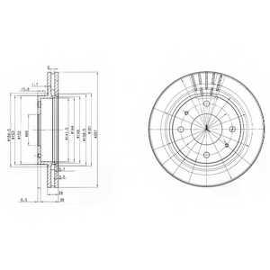 Тормозной диск DELPHI BG3750 - изображение
