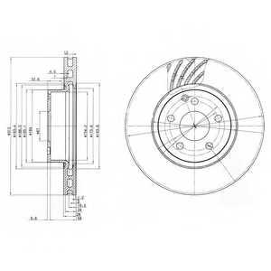 Тормозной диск DELPHI BG3756 - изображение