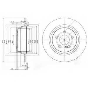 Тормозной диск DELPHI BG3757 - изображение