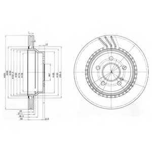 Тормозной диск DELPHI BG3758 - изображение