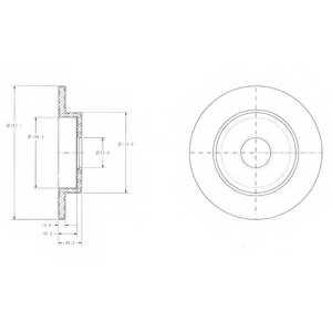Тормозной диск DELPHI BG3761 - изображение