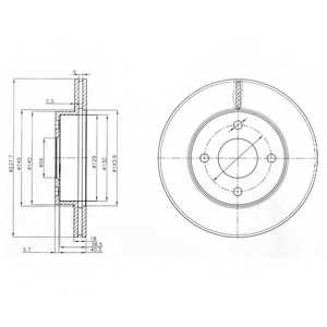 Тормозной диск DELPHI BG3763 - изображение