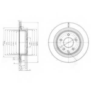 Тормозной диск DELPHI BG3765 - изображение