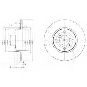Тормозной диск DELPHI BG3769 - изображение