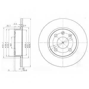 Тормозной диск DELPHI BG3771 - изображение