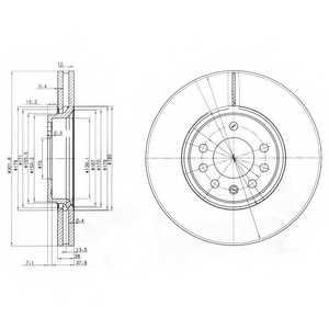 Тормозной диск DELPHI BG3772 - изображение