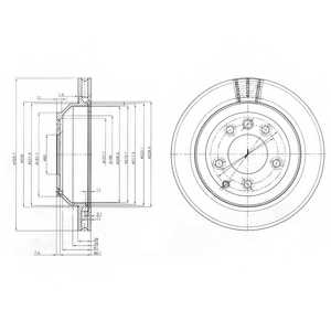 Тормозной диск DELPHI BG3775 - изображение