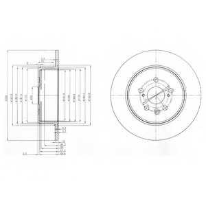 Тормозной диск DELPHI BG3777 - изображение